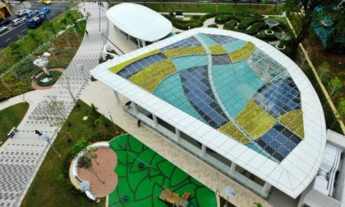 Green building experts shop for ideas at Singapore's first eco-mall